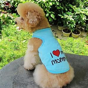 ieftine Lumini Nocturne LED-Pisici Câine Tricou Îmbrăcăminte Câini Portocaliu Albastru Roz Costume Bumbac Inimă Literă & Număr Cosplay Nuntă S M L XL XXL