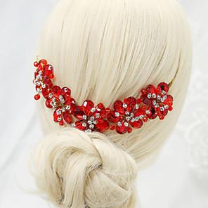 ieftine Bijuterii de Păr-Pentru femei Piepteni de Păr Pentru Nuntă Petrecere Ștras Aliaj Rosu