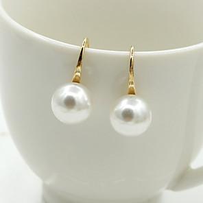 ieftine Cercei-Pentru femei Cristal Cercei Stud Cercei Picătură femei European Modă Elegant 18K Placat cu Aur Perle Imitație de Perle cercei Bijuterii Auriu / Argintiu Pentru Nuntă Mascaradă Petrecere Logodnă Bal