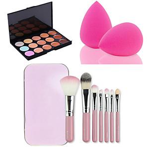 ieftine Imbracaminte & Accesorii Căței-15 Culori Set de machiaj Concealer / contur Pensule de Machiaj Pokrytí / Durată Lungă / Anticearcăn Uşor de Folosit Machiaj Cosmetic