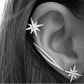 ieftine Cercei-Pentru femei Cristal Cătușe pentru urechi Cercei Cățărătorii de urechi Αστέρι Steaua Nordului femei Vintage Petrecere Birou Casual stil minimalist Ștras cercei Bijuterii Culoare ecran Pentru Zilnic