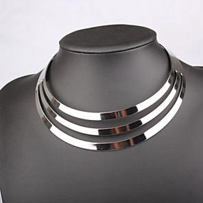 ieftine Colier la Modă-Pentru femei Coliere Choker Declarație femei stil minimalist Festival / Sărbătoare Aliaj Argintiu Coliere Bijuterii Pentru Nuntă Petrecere Zilnic Casual