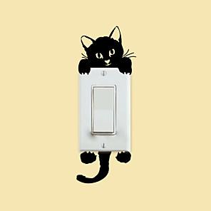 ieftine Acțibilde de Decorațiuni-Animale / Romantic / Modă Perete Postituri Animal Stickers de perete Autocolante Întrerupătoare, PVC Pagina de decorare de perete Decal Perete / Sticla / Baie Decor / Lavabil / Detașabil