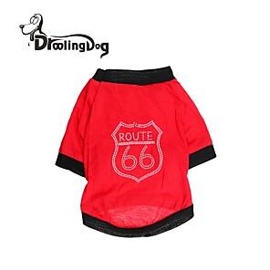 ieftine Câini Gulere, hamuri și Curelușe-Pisici Câine Tricou Îmbrăcăminte Câini Costume Bumbac XS S M L