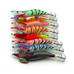 ieftine Alte Accesorii Pescuit-8 pcs Momeală Dură Δόλωμα Momeală Dură Crevetă Scufundare Bass Păstrăv Ştiucă Pescuit mare Pescuit de Apă Dulce Lemn