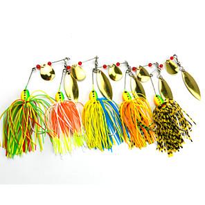 ieftine Momeală Pescuit-5 pcs Δόλωμα Buzzbait & Momeli spinnerbait Momeli filator Plutire Bass Păstrăv Ştiucă Pescuit mare Pescuit de Apă Dulce Plastic Dur Silicon MetalPistol