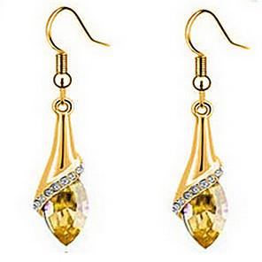 ieftine Ceasuri Damă-Pentru femei Cristal Cercei Picătură Marchiză femei Zirconiu Cubic Placat Auriu Cristal Austriac cercei Bijuterii Auriu Pentru