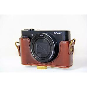 ieftine Carcase, Genți & Curele-dengpin® PU aparat de fotografiat din piele caz sac acopere cu curea de umăr, pentru modelul DSC-hx90v hx90 wx500 (culori asortate) Sony