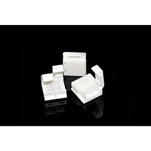 ieftine Conectori-zdm 5pcs 5050 rgb Fâșii de lămpi impermeabile de 10 mm, cu conector fără clemă pentru conexiuni rapide pentru bara de iluminare