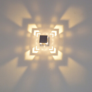 ieftine Abajure Perete-moderne mini 3w a condus moderne de lumina din aluminiu de culoare fațadă montare perete lampă a condus integrate hol dormitor dormitor