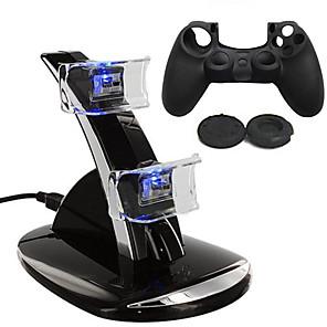 ieftine Accesorii PS4-Încărcător / Controler de joc Protector de caz Pentru PS4 . Încărcător / Controler de joc Protector de caz Silicon / ABS 1 pcs unitate