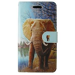 ieftine Seturi de Bijuterii-Maska Pentru Samsung Galaxy Trend Lite / Trend Duos / Grand Prime Portofel / Titluar Card / Cu Stand Carcasă Telefon Elefant PU piele