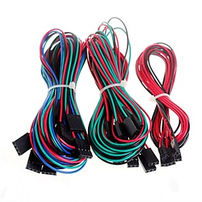 ieftine Conectoare & Terminale-14pcs Cabluri complet de cablare pentru imprimanta 3D rampe reprap 1.4 endstops termistori cu motor