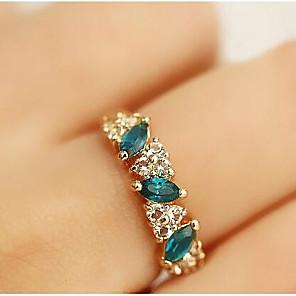 ieftine Îngrijire Unghii-Pentru femei Inel de declarație Cristal Sintetic Emerald Auriu Ștras Diamante Artificiale Aliaj femei Clasic Zilnic Casual Bijuterii grup Trecut prezent viitor Vărsătorul