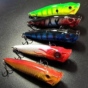 ieftine Momeală Pescuit-5 pcs Δόλωμα Momeală Dură Poper Plutire Bass Păstrăv Ştiucă Pescuit mare Aruncare Momeală Pescuit la Copcă Plastic Dur / Filare / Pescuit la Oscilantă / Pescuit de Apă Dulce / Pescuit Biban