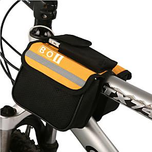 ieftine Colier la Modă-BOI 1.9 L Telefon mobil Bag Genți Ghidon Bicicletă Impermeabil Purtabil Rezistent la șoc Geantă Motor Pânză 600D Ripstop Geantă Biciletă Geantă Ciclism iPhone X / iPhone XR / iPhone XS Ciclism