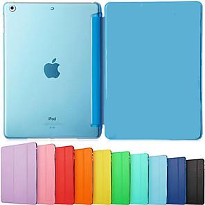 abordables Pochettes / Coques d'iPad-Coque Pour iPad Air iPad Air / iPad 4/3/2 / iPad Mini 3/2/1 Couleur Pleine / Antichoc / Clapet Coque Intégrale Couleur unie Dur faux cuir / iPad Pro 10.5 / iPad (2017)