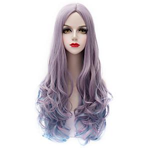ieftine Colier la Modă-Peruci Sintetice Ondulat Val de Apă Ondulat cu Apă Perucă Foarte lung Mov Păr Sintetic Pentru femei Violet