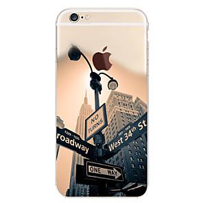 Недорогие Чехлы и кейсы для Galaxy A7-Кейс для Назначение Apple iPhone 7 Plus / iPhone 7 / iPhone 6s Plus С узором Кейс на заднюю панель Пейзаж / Вид на город Мягкий ТПУ