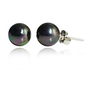 ieftine Cercei-Pentru femei Cercei Stud Perle Imitație de Perle Perlă neagră cercei Bijuterii Negru Pentru Petrecere Zilnic Casual