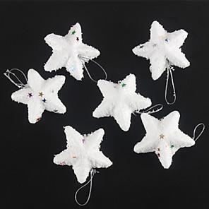 ieftine Costume Moș-moda Merry Christmas stele Snow White pentru Crăciun decorare partid 6 buc