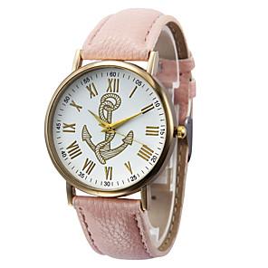 preiswerte Uhren Zubehör-Damen Uhr Armbanduhr Quartz Leder Schwarz / Weiß / Braun Schlussverkauf Analog damas Charme Modisch Braun Grün Rosa