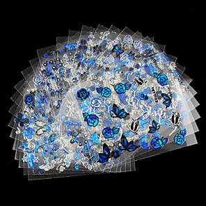 povoljno Šminka i njega noktiju-12pcs 3D Nail Naljepnice Nakit za nokte nail art Manikura Pedikura Lijep Moda Dnevno / PVC / 3D naljepnice za nokte