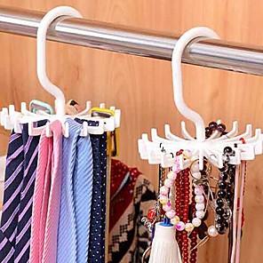 ieftine Stocare și Organizare-reglabil 20 cârlig rotativ rack rack eșarfă organizator bărbați cravată cârlig deține