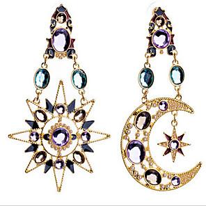 ieftine Walkie Talkies-Pentru femei Diamant sintetic Cercei Picătură MOON femei Lux European Zirconiu Cubic Placat Auriu Diamante Artificiale cercei Bijuterii Culoare ecran Pentru