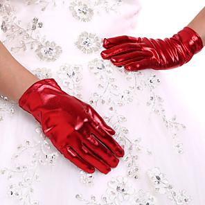 ieftine Mănuși & Mănuși 1 deget-Spandex Lungime Încheietură Mănușă Mănuși de Mireasă Mănuși de Party/ Seară