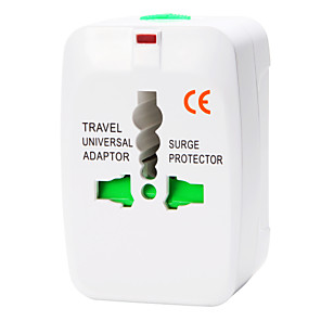 ieftine Cabluri de Adaptor AC & Curent-whirldy toate într-un adaptor international lume universal de călătorie la nivel Adaptor încărcător priză, alb