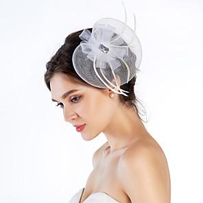 ieftine Bijuterii de Păr-Cristal / Pană / Material Textil Diademe / Palarioare cu 1 Nuntă / Ocazie specială / Party / Seara Diadema