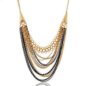ieftine Brățări-Pentru femei Coliere Colier de argint lichid Aliaj Alb Negru Coliere Bijuterii Pentru Petrecere Zilnic Casual