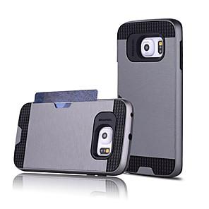Недорогие Чехол Samsung-Кейс для Назначение SSamsung Galaxy S7 edge / S7 / S6 edge plus Бумажник для карт Кейс на заднюю панель Однотонный ПК