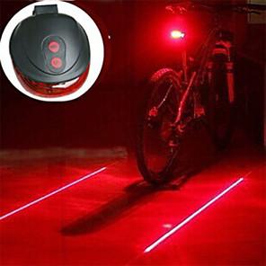 ieftine Lumini de Bicicletă-Laser LED Lumini de Bicicletă Lumini de Bicicletă Felinare & lumini pentru cort Iluminat Bicicletă Spate - Ciclism montan Bicicletă Ciclism Rezistent la Impact Lumină LED Ușor de Purtat Atenţie AAA