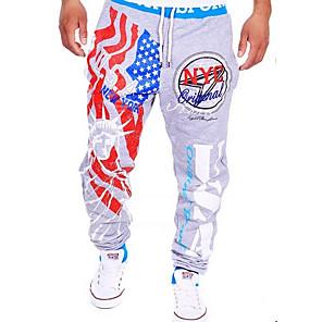 ieftine Coliere-Bărbați Activ / De Bază sportiv Casual Sport Activ / Relaxat / Pantaloni Sport Pantaloni - Imprimeu / Scrisă Stil modern Negru Gri Deschis L XL XXL
