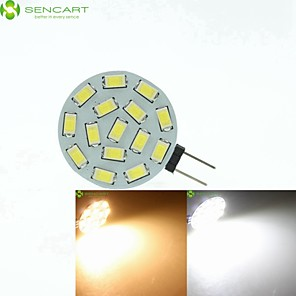 ieftine Becuri LED Bi-pin-SENCART Spoturi LED 700-900 lm G4 MR11 15 LED-uri de margele SMD 5630 Intensitate Luminoasă Reglabilă Alb Cald Alb Natural 12 V 24 V 9-30 V