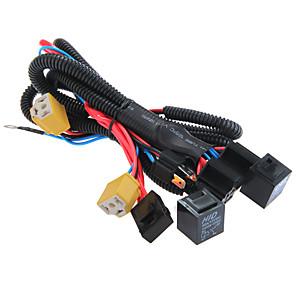 ieftine Faruri de Mașină-universal h4 / 9003 far de susținere a cablajului cablu conector mufa siguranță 12v 40a instrument de diagnosticare a luminii