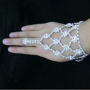 ieftine Imbracaminte & Accesorii Căței-Pentru femei Bratari Wrap Ring Bracelets Floare Floarea Soarelui Ștras Bijuterii brățară Alb Pentru Petrecere Zilnic / Argilă / Diamante Artificiale