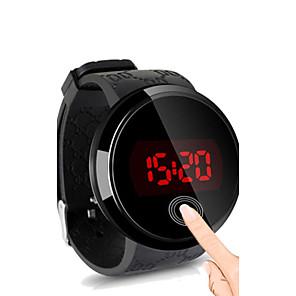 povoljno Ženski satovi-Muškarci Ručni satovi s mehanizmom za navijanje digitalni sat Digitalni Silikon Crna Vodootpornost Ekran na dodir Kreativan Šiljci za meso Jednostavan sat - Crn Crna / Bijela Bijela / Srebrna Dvije
