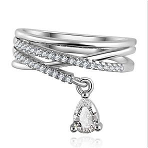 ieftine Coliere-Pentru femei Inel de declarație inel de înfășurare Zirconiu Cubic diamant mic Auriu Argintiu Zirconiu Zirconiu Cubic Aliaj femei Lux Modă Nuntă Petrecere Bijuterii Solitaire Inel de nunta rusesc