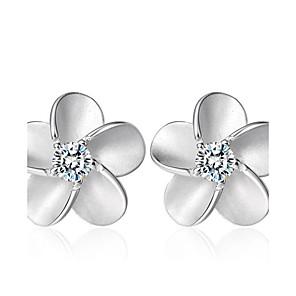 ieftine Brățări-Pentru femei Zirconiu Cubic Cercei Stud femei Modă Plastic Cristal Zirconiu cercei Bijuterii Argintiu Pentru Nuntă Petrecere Zilnic