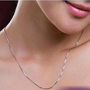 ieftine Colier la Modă-Pentru femei Lănțișoare femei Simplu Argilă Argintiu Coliere Bijuterii Pentru Nuntă Petrecere Zilnic Casual