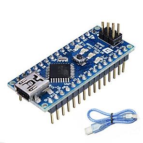 ieftine Module-atmega328p nano v3.0 pentru Arduino (funcționează cu placi Arduino oficiale)