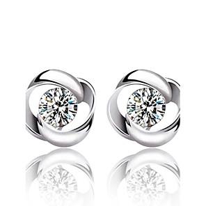 ieftine Cercei-Pentru femei Cristal Cercei Stud Modă Plastic Cristal Argintiu cercei Bijuterii Argintiu Pentru Nuntă Petrecere Zilnic