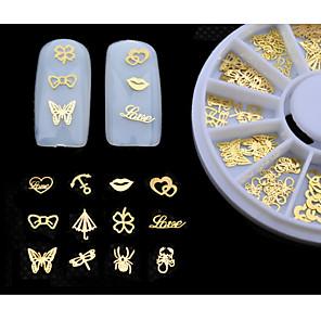 povoljno Šminka i njega noktiju-1 pcs Metal Kompleti noktiju Lijep Klasik Dnevno 3D Nail Naljepnice za prst nožni prst