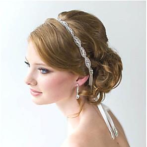ieftine Bijuterii de Păr-Pentru femei Cordeluțe Pentru Nuntă Petrecere Ocazie specială Petrecere Nuntă Flori Cristal Cristal Zirconiu Ștras Alb