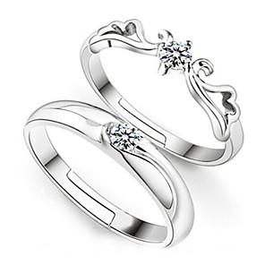 ieftine Inele-Pentru cupluri Inele Cuplu inel de înfășurare 2pcs Plastic femei Modă de Mireasă Nuntă Petrecere Bijuterii / Zirconiu