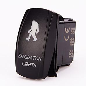 ieftine Întrerupătoare-iztoss cu laser 5Pin Sasquatch comutatorul basculant-off a condus lumina 20a 12v albastru