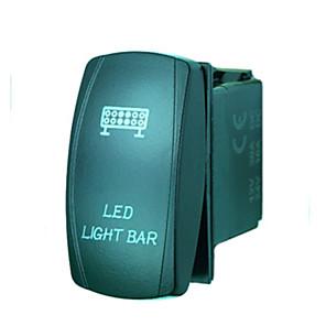 ieftine Întrerupătoare-cu laser 5Pin iztoss condus comutatorul de lumini rocker bar pe-off a condus lumina 20a 12V albastră cu fire pentru a instala